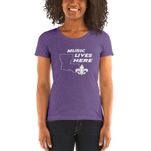 "Louisiana ""MUSIC LIVES HERE"" Women's Triblend T-Shirt"