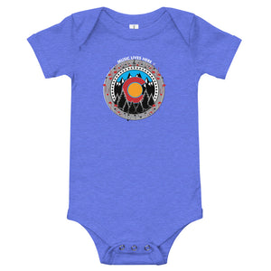 "Colorado Pride ""MUSIC LIVES HERE"" Baby Onesie"