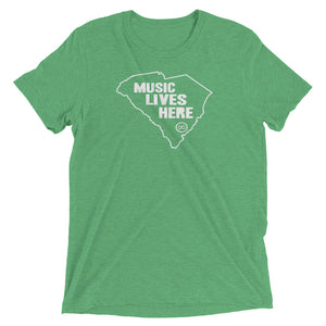 "South Carolina ""MUSIC LIVES HERE"" Men's Triblend T-Shirt"