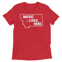 "Montana ""MUSIC LIVES HERE"" Men's Triblend Tshirt"
