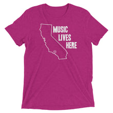 "California ""MUSIC LIVES HERE"" Men's Triblend T-Shirt"
