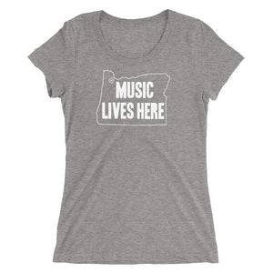 "Oregon ""MUSIC LIVES HERE"" Women's Triblend T-Shirt"