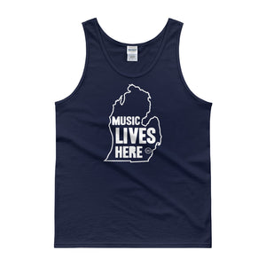 "MIchigan ""MUSIC LIVES HERE"" Men's Tank Top"