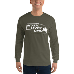 "Nebraska Irish ""MUSIC LIVES HERE"" Long Sleeve T-Shirt"