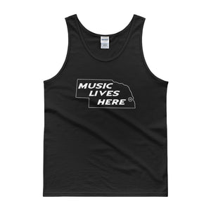 "Nebraska ""MUSIC LIVES HERE"" Men's Tank top"