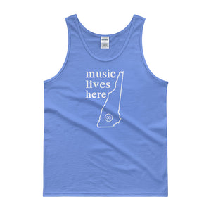 "New Hampshire ""MUSIC LIVES HERE"" Men's Tank top"