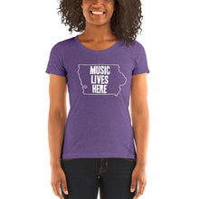 "Iowa ""MUSIC LIVES HERE"" Women's Triblend T-Shirt"