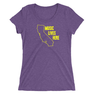 "Los Angeles ""MUSIC LIVES HERE"" Women's Triblend T-Shirt"