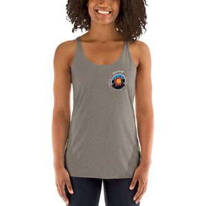 "Colorado Pride ""MUSIC LIVES HERE"" Women's Triblend Racerback Tank Top"