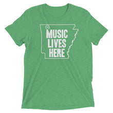 "Arkansas ""MUSIC LIVES HERE"" Men's Triblend Tshirt"