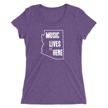 "Arizona ""MUSIC LIVES HERE"" Women's Triblend T-Shirt"