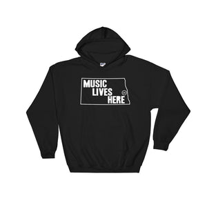 "North Dakota ""MUSIC LIVES HERE"" Hooded Sweatshirt"
