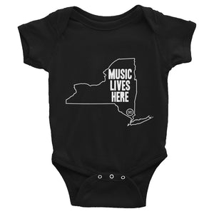 "New York ""MUSIC LIVES HERE"" Baby Onesie"