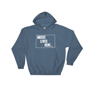 "Wyoming ""MUSIC LIVES HERE"" Hooded Sweatshirt"