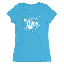 "Ohio ""MUSIC LIVES HERE"" Women's Triblend T-Shirt"