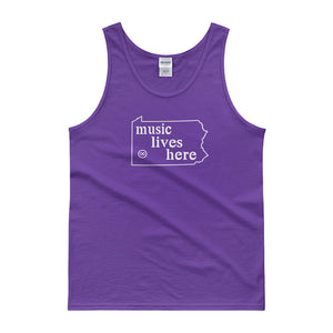 "Pennsylvania ""MUSIC LIVES HERE"" Men's Tank top"