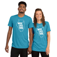 "Illinois ""MUSIC LIVES HERE"" Men's Triblend T-Shirt"