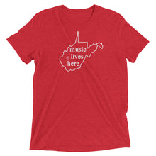 "West Virginia ""MUSIC LIVES HERE"" Men's Triblend T-Shirt"