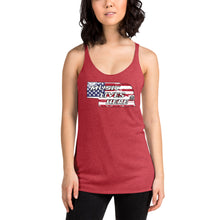 "Nebraska Patriot ""MUSIC LIVES HERE"" Women's Triblend Racerback Tank"