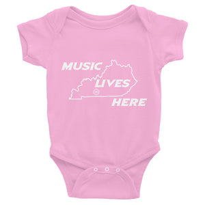 "Kentucky ""MUSIC LIVES HERE"" Baby Onesie"
