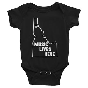 "Idaho ""MUSIC LIVES HERE"" Baby Onesie"