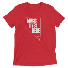 "Nevada ""MUSIC LIVES HERE"" Men's Triblend Tshirt"