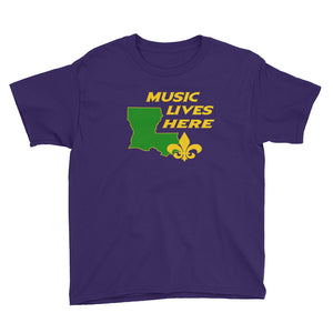 "Mardi Gras ""MUSIC LIVES HERE"" Kid's T-Shirt"