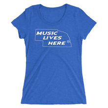"Nebraska ""MUSIC LIVES HERE"" Women's Triblend T-Shirt"