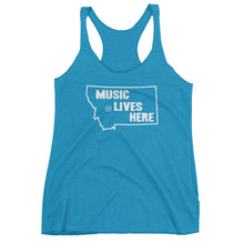 "Montana ""MUSIC LIVES HERE"" Women's Triblend Racerback Tank Top"