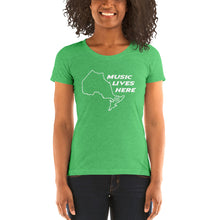 "Ontario ""MUSIC LIVES HERE"" Women's Triblend T-Shirt"