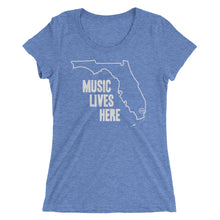 "Florida ""MUSIC LIVES HERE"" Women's Triblend Tshirt"