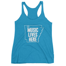 "Arkansas ""MUSIC LIVES HERE"" Women's Triblend Racerback Tank Top"