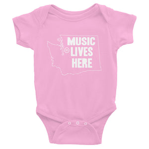 "Washington ""MUSIC LIVES HERE"" Baby Onesie"