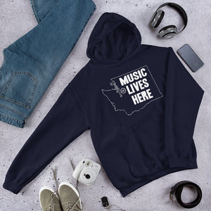 "Washington ""MUSIC LIVES HERE"" Hooded Sweatshirt"
