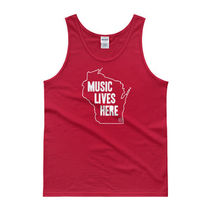 "Wisconsin ""MUSIC LIVES HERE"" Men's Tank Top"