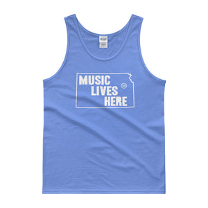"Kansas ""MUSIC LIVES HERE"" Men's Tank Top"