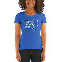 "New Jersey ""MUSIC LIVES HERE"" Women's Triblend T-Shirt"