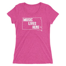 "South Dakota ""MUSIC LIVES HERE"" Women's Triblend T-Shirt"