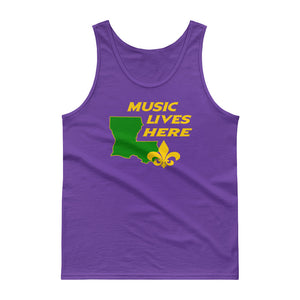"Mardi Gras ""MUSIC LIVES HERE"" Tank Top"