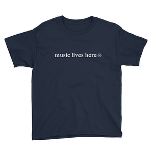 """MUSIC LIVES HERE"" Kid's T-Shirt"