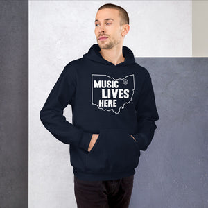 "Ohio ""MUSIC LIVES HERE"" Hooded Sweatshirt"
