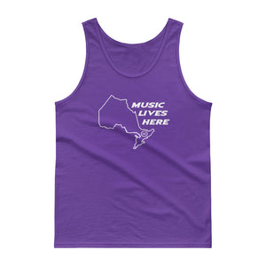 "Ontario ""MUSIC LIVES HERE"" Men's Tank top"