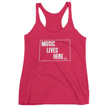"Wyoming ""MUSIC LIVES HERE"" Women's Triblend Tank Top"