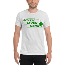 "Nebraska Irish ""MUSIC LIVES HERE"" Men's Triblend T-Shirt"