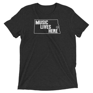 "North Dakota ""MUSIC LIVES HERE"" Men's Triblend T-Shirt"