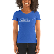 "Tennessee ""MUSIC LIVES HERE"" Women's Triblend T-Shirt"