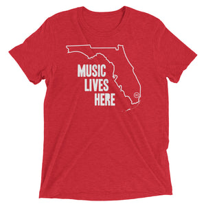 "Florida ""MUSIC LIVES HERE"" Men's Triblend Tshirt"