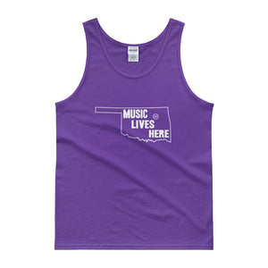 "Oklahoma ""MUSIC LIVES HERE"" Men's Tank Top"