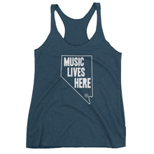 "Nevada ""MUSIC LIVES HERE"" Women's Triblend Racerback Tank Top"