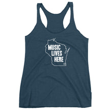 "Wisconsin ""MUSIC LIVES HERE"" Women's Triblend Racerback Tank"